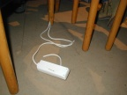 Das Übel der Testlan Dieser 3er Verteiler sorgte für einen Stromausfall, und wurde daraufhin geköpft (zerschnitten)