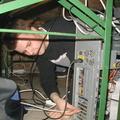 und da gehört das LAN Kabel rein