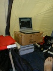 Der Serverraum im ICB-Zelt ist fertig