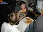 beim Pizzaessen