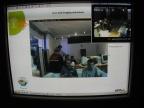 Bildschirm, zu sehen das Bild der Webcam im Cill out Bereich